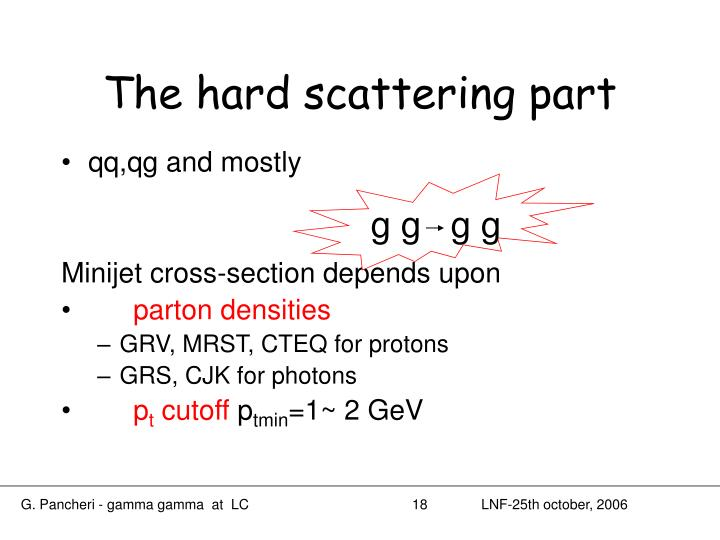 The hard scattering part