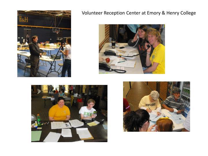 Volunteer Reception Center at Emory & Henry College