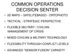 common operations decision senter