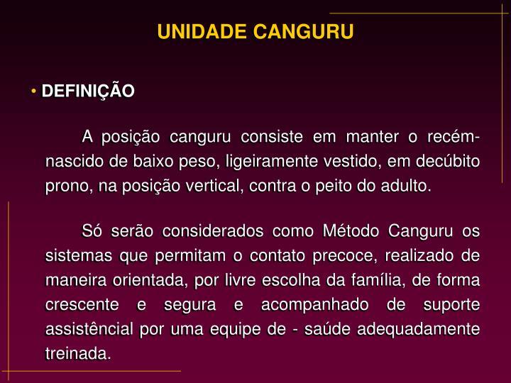 UNIDADE CANGURU