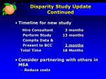 disparity study update continued1