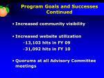 program goals and successes continued1
