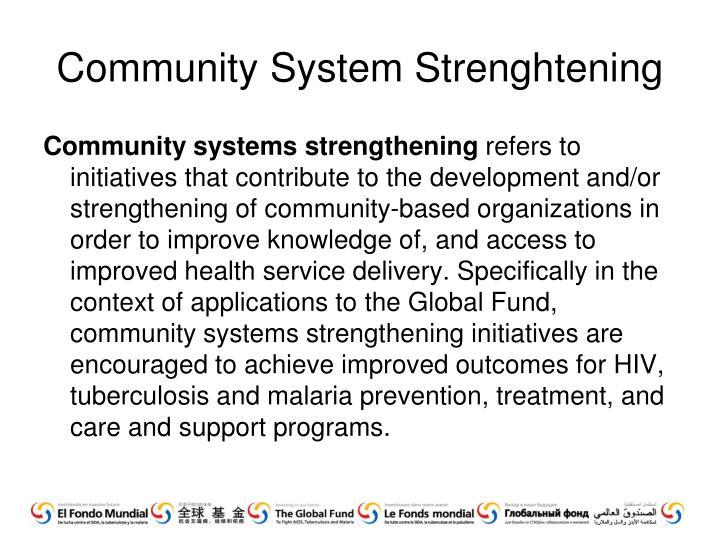 Community System Strenghtening