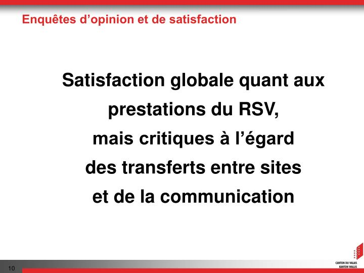 Enquêtes d'opinion et de satisfaction
