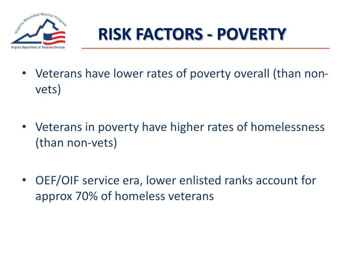 RISK FACTORS - POVERTY
