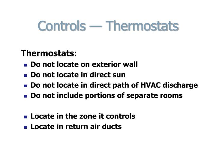 Controls — Thermostats