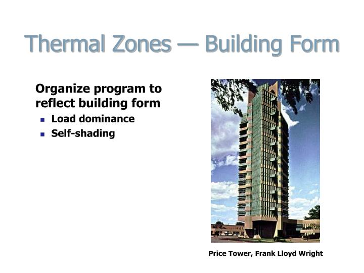 Thermal Zones — Building Form