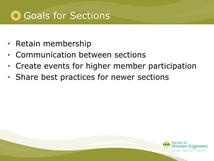 Goals for Sections