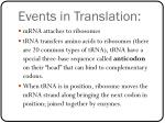 events in translation