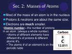 sec 2 masses of atoms
