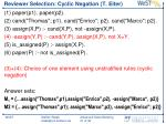 reviewer selection cyclic negation t eiter