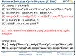 reviewer selection cyclic negation t eiter1