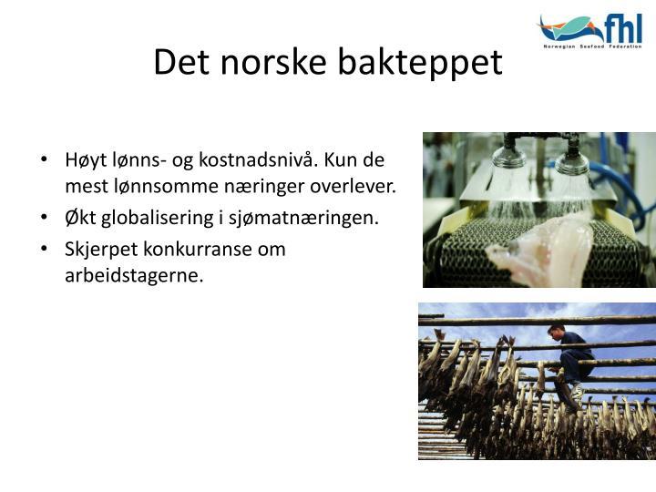Det norske bakteppet