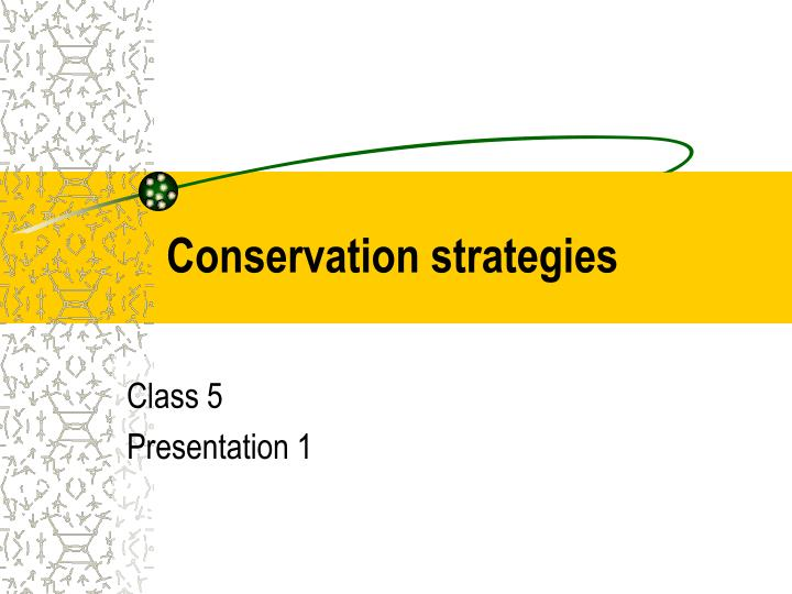 conservation strategies n.