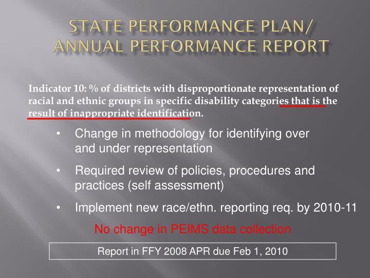State Performance Plan/