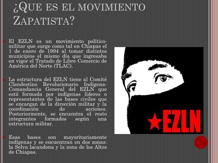 ¿Que es el movimiento Zapatista?