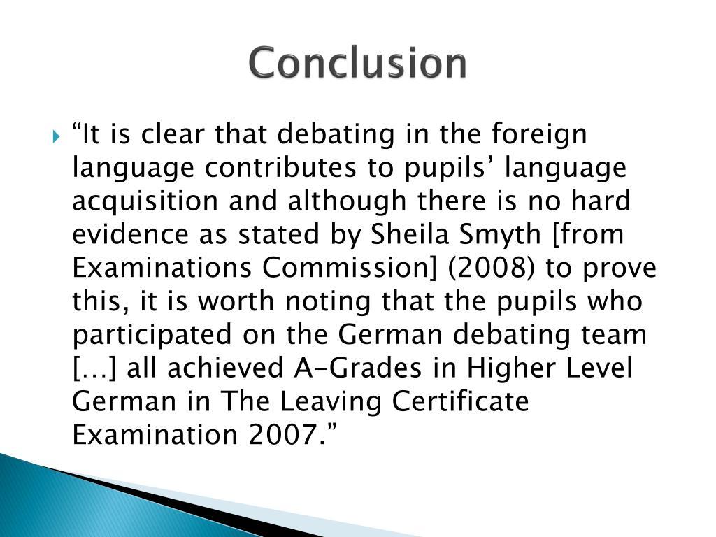 Conclusion Auf Deutsch