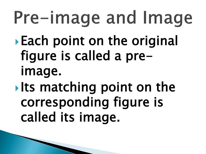 Pre-image and Image