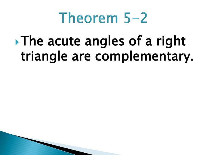 Theorem 5-2