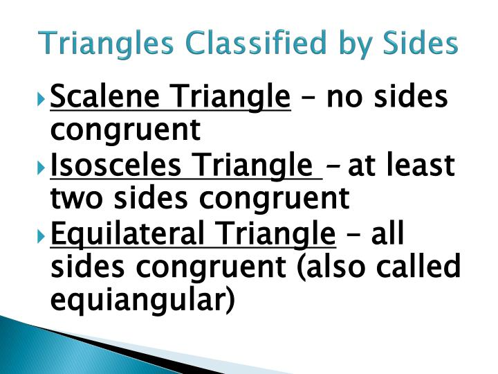 Triangles Classified by Sides