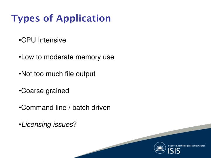 Types of application