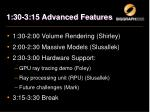 1 30 3 15 advanced features