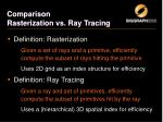 comparison rasterization vs ray tracing