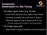 comparison rasterization vs ray tracing1
