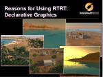 reasons for using rtrt declarative graphics2