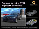 reasons for using rtrt physical correctness1