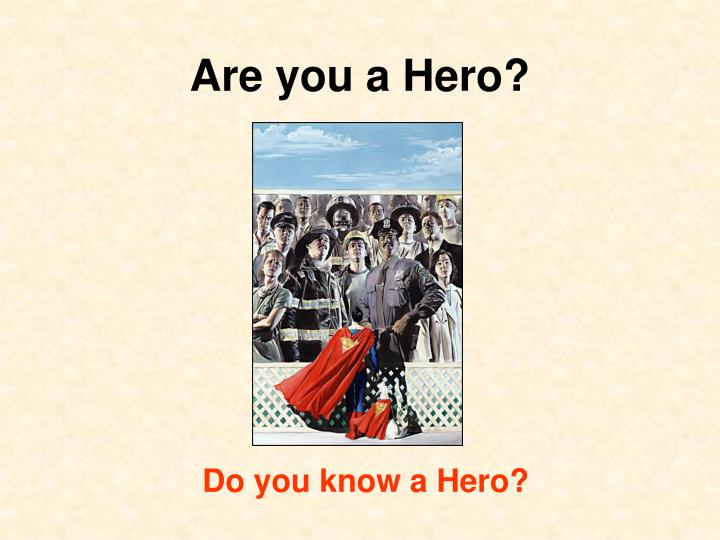 are you a hero n.