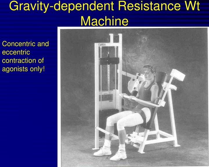 Gravity-dependent Resistance Wt Machine