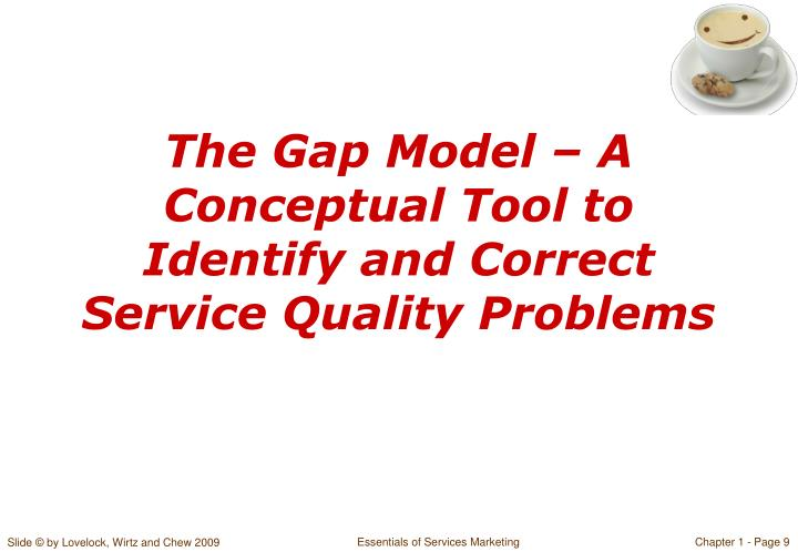 a conceptual model of service quality and Most hospitality research has treated the concept of service quality as an entity unto itself that is, it has been studied in isolation or as a precursor variable for satisfaction in the era of the experience economy, however, service quality must be integrated into a holistic model built on the.
