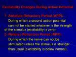 excitability changes during action potential