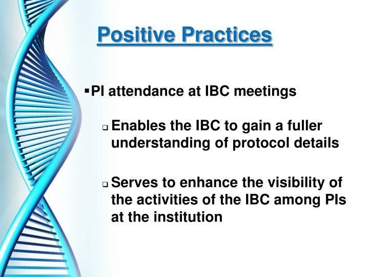Positive Practices