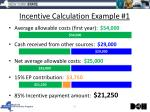 incentive calculation example 1