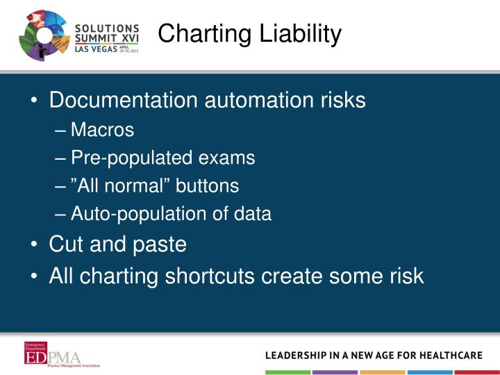Charting Liability