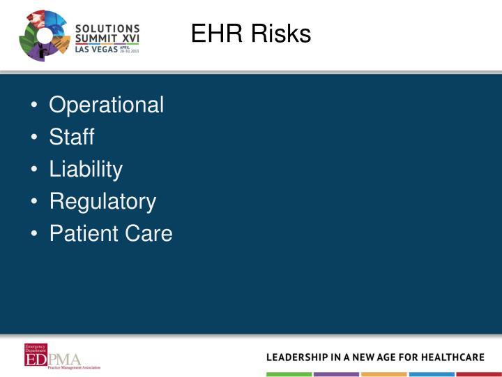 EHR Risks