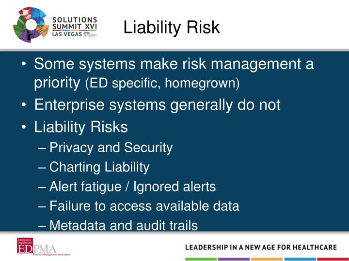 Liability Risk