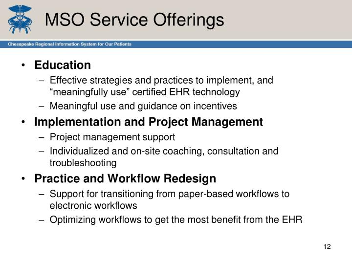 MSO Service Offerings