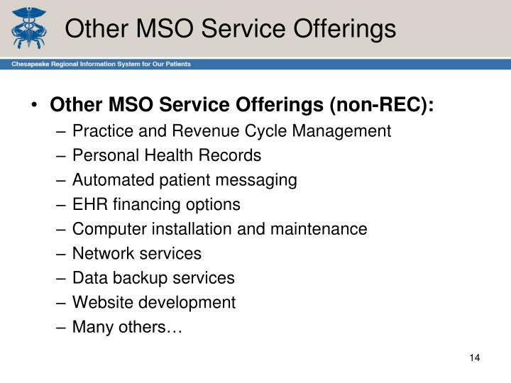 Other MSO Service Offerings