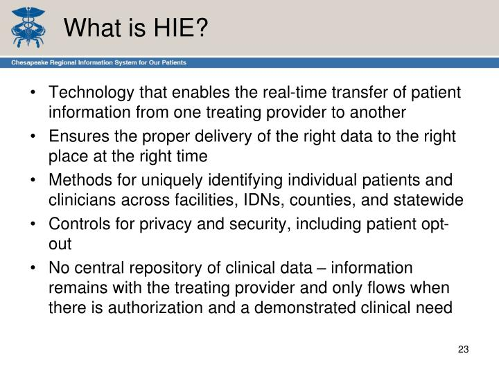 What is HIE?