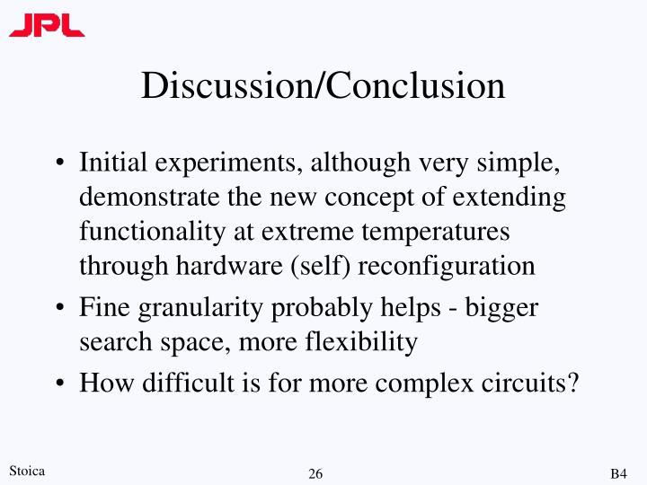 Discussion/Conclusion