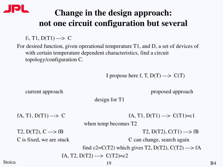 Change in the design approach: