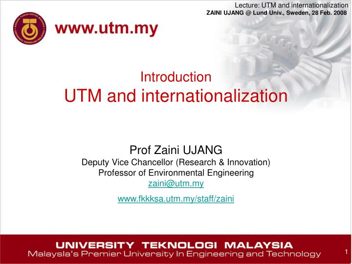 introduction utm and internationalization n.