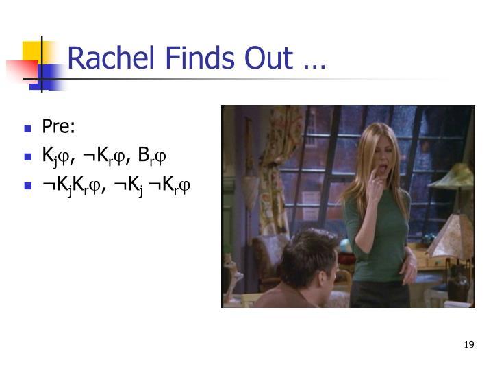 Rachel Finds Out …