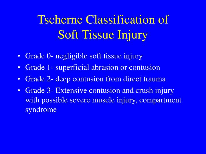 Tscherne Classification of