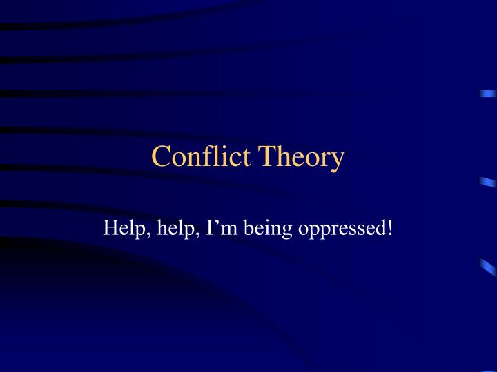 conflict theory n.