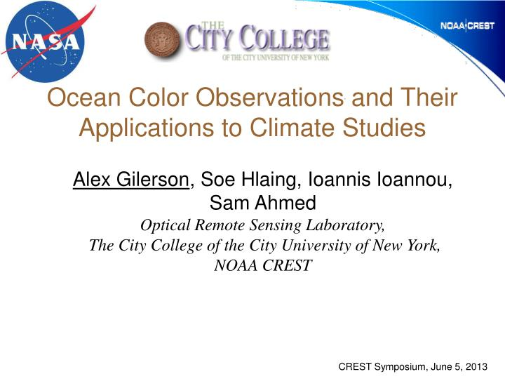 Ocean color observations and their applications to climate studies