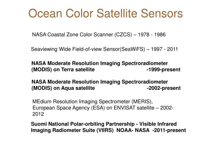 Ocean Color Satellite Sensors
